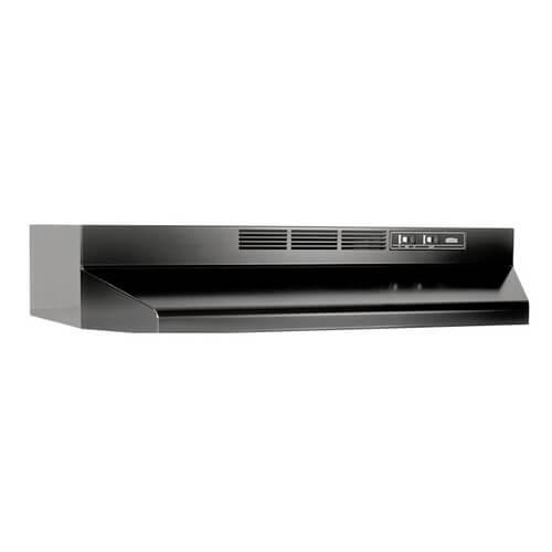 "30"" Black, 2 Speed Under Cabinet Range Hood Product Image"