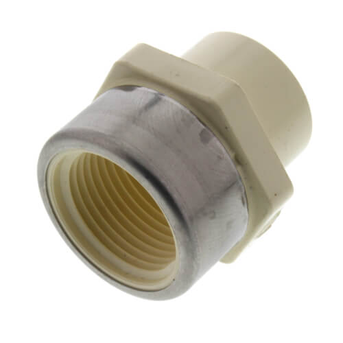 """3/4"""" CTS CPVC Female Adapter w/ Reinforced SS Collar (Socket x FIPT) Product Image"""