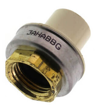 "1-1/4"" CTS CPVC Female Adapter w/ Gasket (Socket x Brass FPT) Product Image"