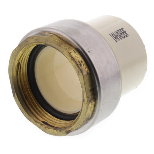 """1-1/2"""" CTS CPVC Female Adapter w/ Gasket (Socket x Brass FPT) Product Image"""