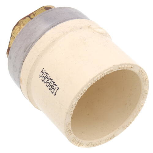 "1"" x 1/2"" CTS CPVC Female Adapter (Socket x Brass FPT) Product Image"