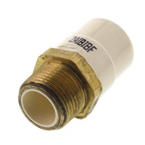 """1"""" CTS CPVC Male Adapter (Brass MIPT x Socket) Product Image"""