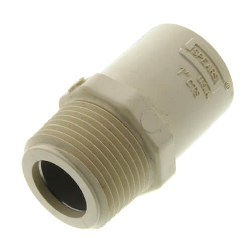 "1"" CTS CPVC Male Adapter w/ Stainless Steel Sleeve (MIPT x Socket) Product Image"