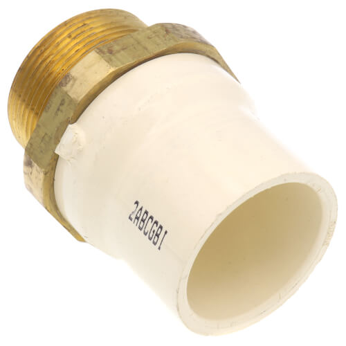 """1-1/2"""" CTS CPVC Male Adapter (Brass MIPT x Socket) Product Image"""