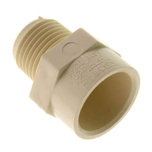 """1/2"""" x 3/4"""" CTS CPVC Male Adapter (MIPT x Socket) Product Image"""
