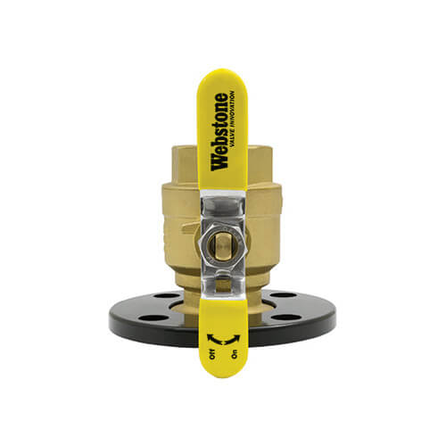 """2"""" Threaded Full Port Forged Brass Isolator with Round Flange Product Image"""