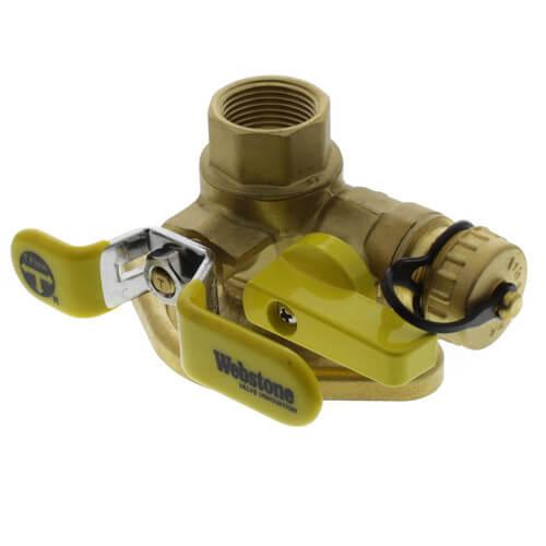 "3/4"" Threaded Isolator Flange w/ Multi-Function Drain & Rotating Flange, Lead Free Product Image"