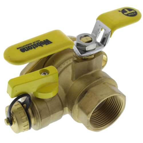 "1-1/4"" Threaded Isolator w/ MF Drain & Rotating Flange - High Velocity - Lead Free Product Image"