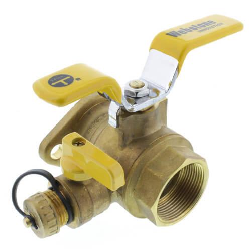 "1-1/2"" Threaded Isolator Flange w/ Drain & Rotating Flange Product Image"