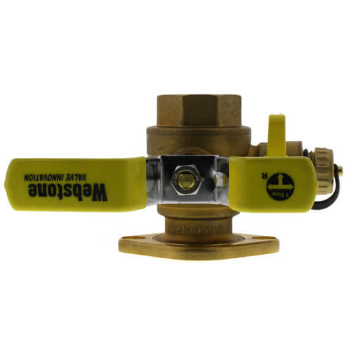"1-1/2"" Threaded Isolator w/ MF Drain & Rotating Flange - High Velocity Product Image"