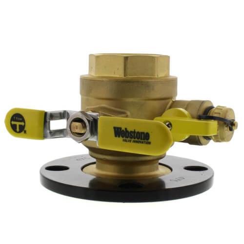 "2"" Threaded Round Isolator w/ Detachable Rotating Flange, Hi-Flow Hose Drain Product Image"