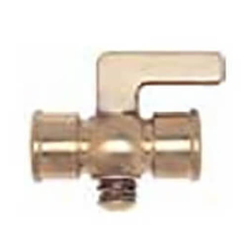"1/8"" Spring Bottom, Double Female Air Cock w/ Lever Handle Product Image"
