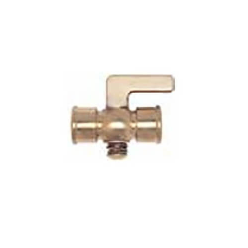 """1/4"""" Nut Bottom, Double Female Air Cock w/ Lever Handle Product Image"""