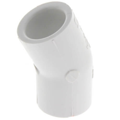 """6"""" PVC Sch. 40 22.5° Elbow Product Image"""