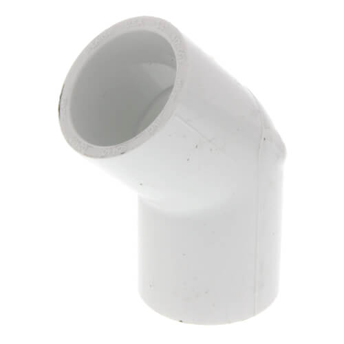 """3/4"""" PVC Sch. 40 45° Elbow Product Image"""