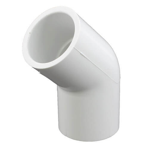 "8"" PVC Sch. 40 45° Elbow (Fabricated) Product Image"