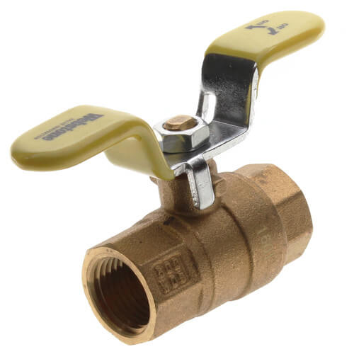 "1/2"" Threaded  Full Port Ball Valve w/ T-Handle Product Image"