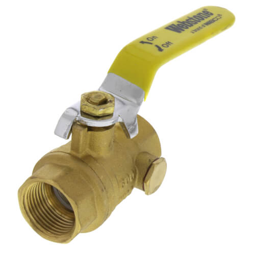 """3/4"""" IPS Full Port Forged Brass Ball Valve with IPS Hole Product Image"""