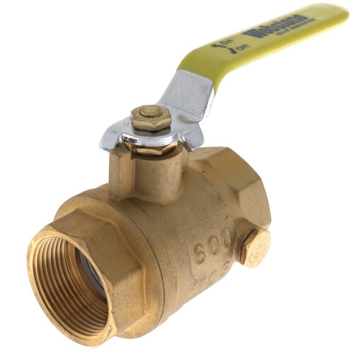 "1-1/4"" IPS Full Port Forged Brass Ball Valve with IPS Hole Product Image"