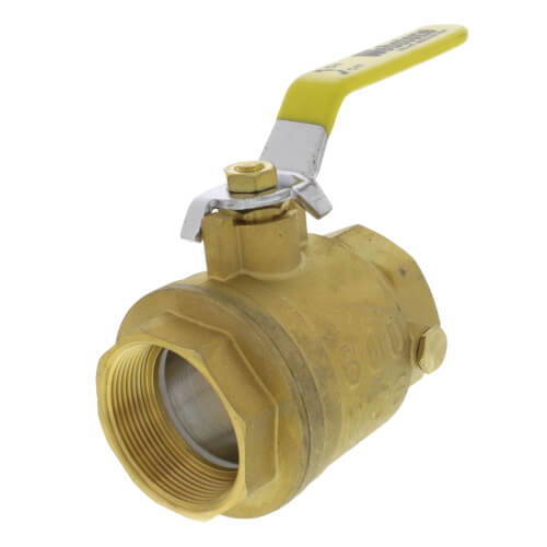 """2"""" IPS Full Port Forged Brass Ball Valve with IPS Hole Product Image"""