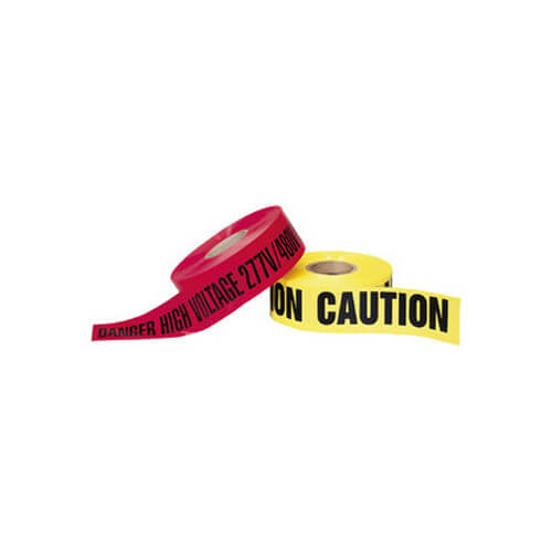 """""""Caution High Voltage"""" Yellow Barricade Tape (3"""" x 1000 Ft) Product Image"""