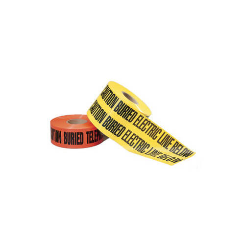 """""""Caution Buried Electric Line Below"""" Red Non-Detectable Underground Tape (3"""" x 1000 Ft) Product Image"""