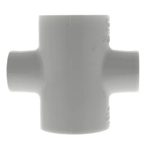 "2"" x 2"" x 1"" x 1"" PVC Sch. 40 Cross Product Image"