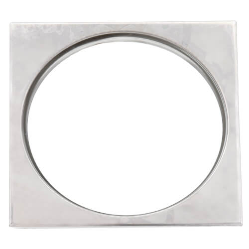 "4-1/4"" x 4-1/4"" Stainless Steel Square Tile Ring Product Image"