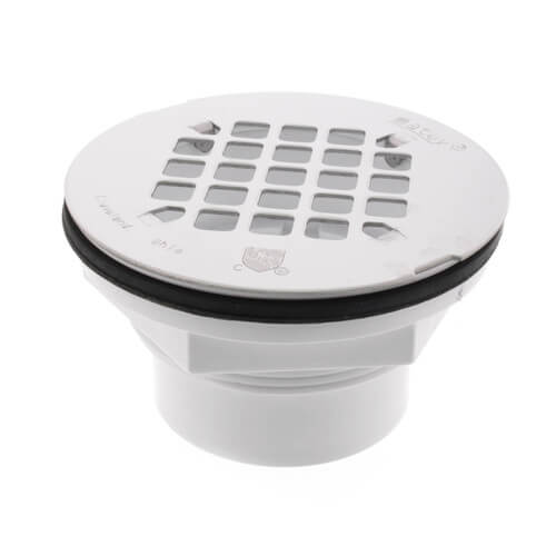 """2"""" PVC Solvent Weld Shower Drain with Stainless Steel Strainer Product Image"""