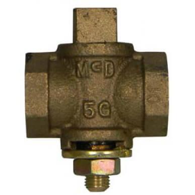 "10596 1-1/4"" Flat Head Gas Plug Valve w/ Check (2 PSI) Product Image"
