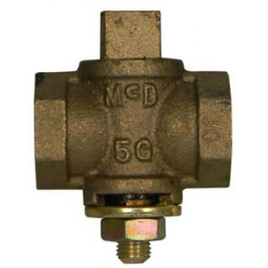 "10596 2"" Flat Head Gas Plug Valve w/ Check (2 PSI) Product Image"
