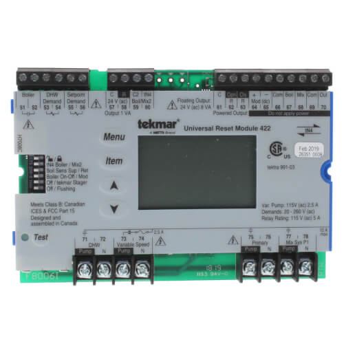 Universal Reset Module - Two tN4, Mixing, Boiler, DHW & Setpoint Product Image