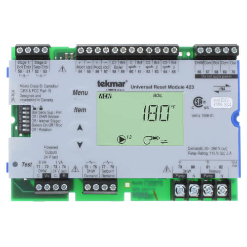 Universal Reset Module - Four tN4, Two Boiler, DHW & Setpoint Product Image