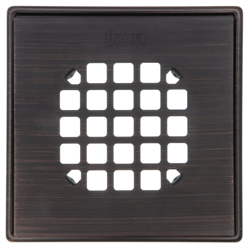 Square Oil Rubbed Bronze Snap Strainer with Ring Product Image
