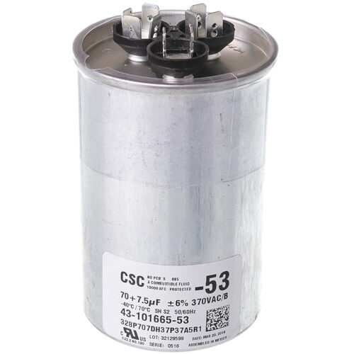Capacitor - 70/7.5/370 Dual Round Product Image