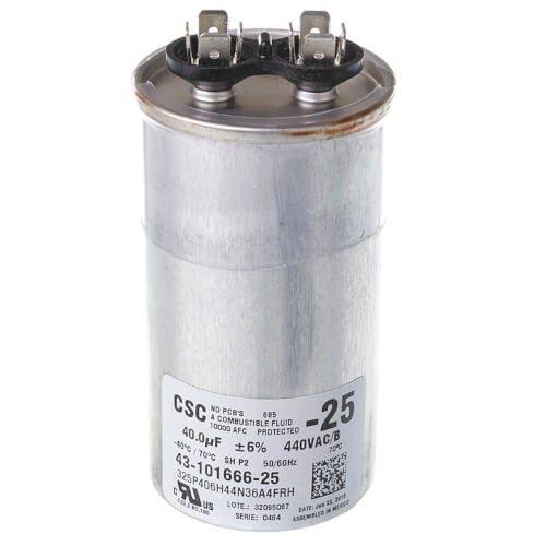 Capacitor - 40/440 Single Round Product Image