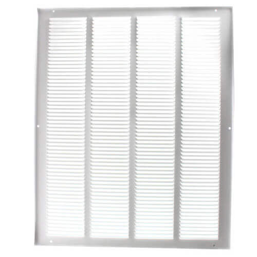 """14"""" x 20"""" (Wall Opening Size) White Return Air Grille (650 Series) Product Image"""