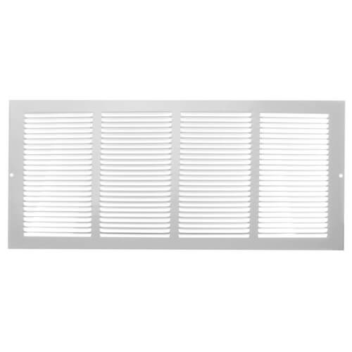 """20"""" x 8"""" (Wall Opening Size) White Return Air Grille (650 Series) Product Image"""