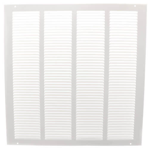 """20"""" x 20"""" (Wall Opening Size) White Return Air Grille (650 Series) Product Image"""