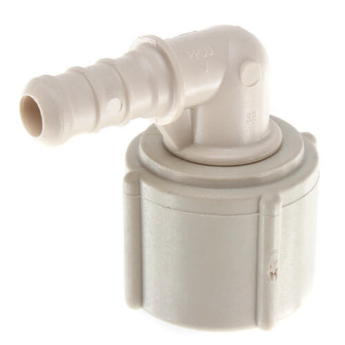 "3/8"" PEX Crimp x 1/2"" Lav PureFlow Elbow (Plastic Nut) Product Image"