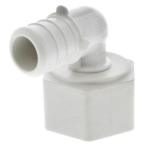 """3/4"""" PEX Crimp x 3/4"""" Lav PureFlow Elbow (Plastic Nut) Product Image"""