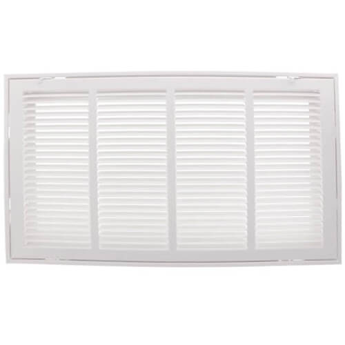 "30"" x 8"" (Wall Opening Size) White Sidewall/Ceiling Return Air Filter Grille (Series 673) Product Image"