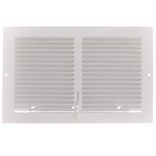 """10"""" x 6"""" (Wall Opening) Steel Baseboard Register with Plate Damper (654 Series) Product Image"""