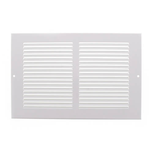 "10"" x 6"" White Baseboard Return Air Grille (657 Series) Product Image"