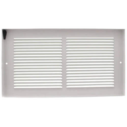 """12"""" x 6"""" White Baseboard Return Air Grille (657 Series) Product Image"""