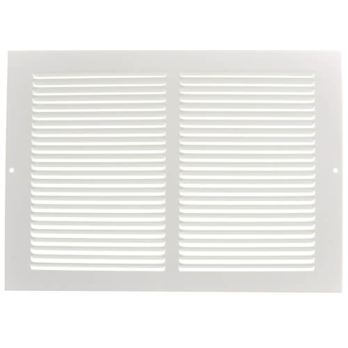 "12"" x 8"" (Wall Opening Size) White Baseboard Return Air Grille (657 Series) Product Image"