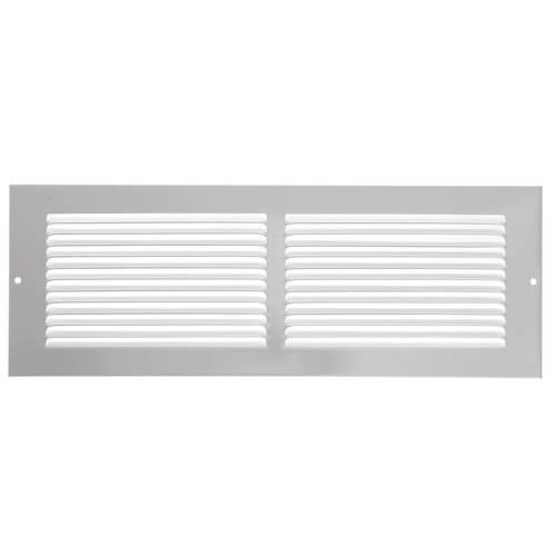 """14"""" x 4"""" White Baseboard Return Air Grille (657 Series) Product Image"""