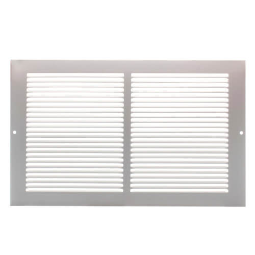 """14"""" x 8"""" White Baseboard Return Air Grille (657 Series) Product Image"""