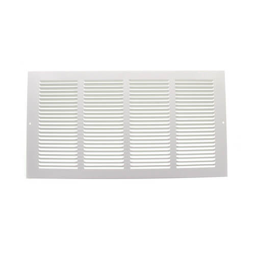 """16"""" x 8"""" White Baseboard Return Air Grille (657 Series) Product Image"""