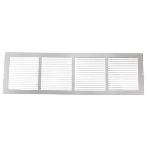 "24"" x 6"" White Baseboard Return Air Grille (657 Series) Product Image"